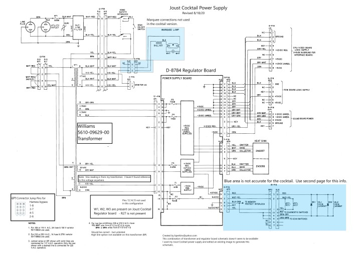 [SCHEMATICS_48YU]  Joust Cocktail – Power Supply Rehab – My many projects and how they happen | Joust Wiring Diagram |  | George McFly - WordPress.com